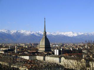 Panorama con la Mole Antonelliana e le Alpi